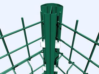 桃型柱护栏安装