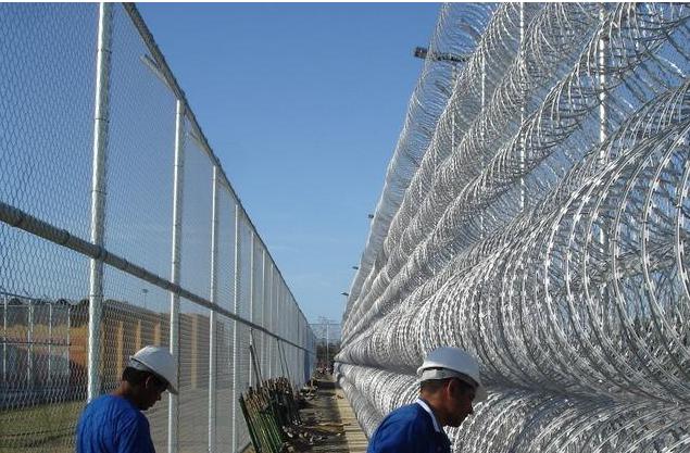 刀片刺绳监狱钢网墙