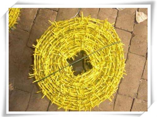 黄色PVC包塑刺绳