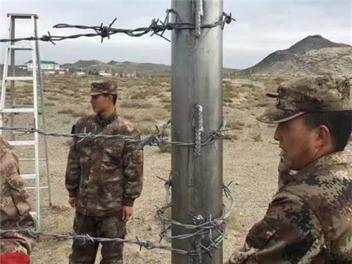 边疆防护刺绳栅栏