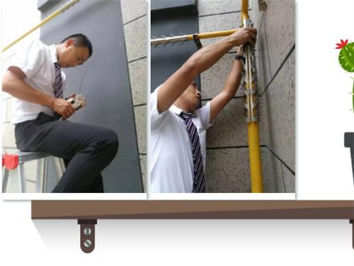 天然气管道防爬刺安装